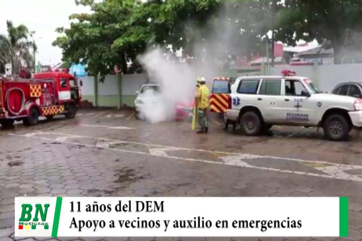 DEM festeja 11 años de creación ayudando al vecino y dando asistencia en casos de emergencia