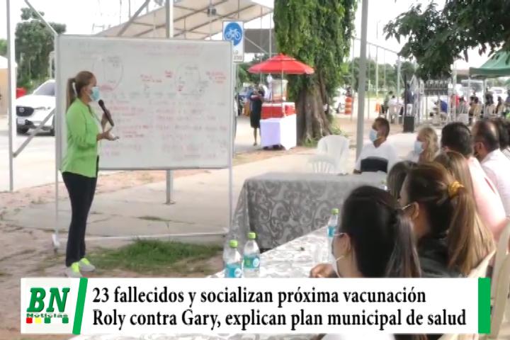 Alerta coronavirus, 23 fallecidos y socializan vacunación, Roly critica a Gary mientras Sosa explica plan de salud