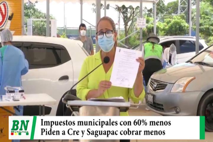 Municipio promulga ley de descuento del 60% en impuestos y piden a Cre y Saguapac cobrar menos