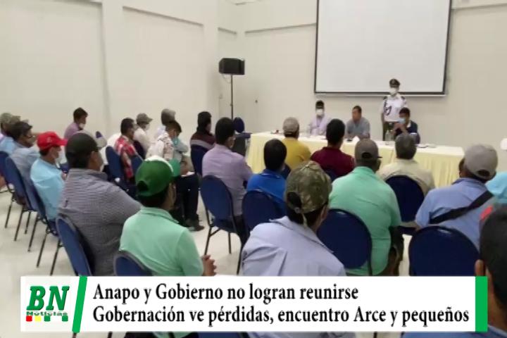 Pese a acuerdos entre Anapo y el Gobierno, no logran reunirse por bloqueos, diálogo entre pequeños productores con Arce