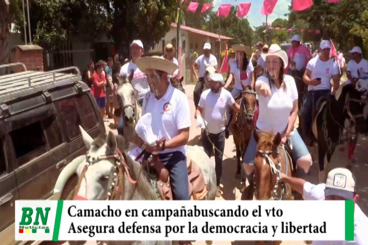Campaña Creemos 2021, Camacho lleva brigada veterinaria a mascotas y en Paurito asegura defensa de la Democracia y libertad