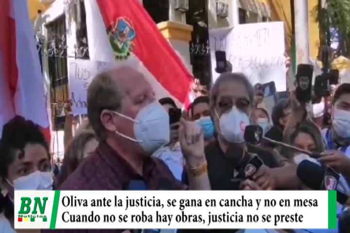 Oliva con orden de aprehensión pide a justicia no prestarse a intereses, se gana en cancha y no en mesa