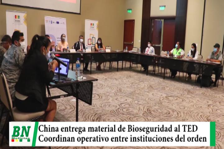 Elección 2021, China entrega Bioseguridad al TED y autoridades coordinan operativo para  día de votación