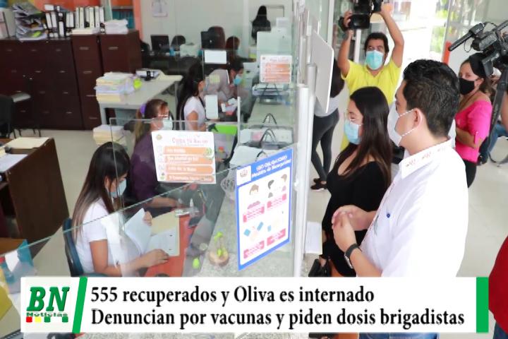 Alerta coronavirus, Se recuperan 555 y Oliva es internado, denuncian en fiscalia por vacunación irregular