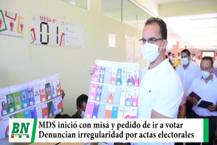 Campaña Demócratas 2021, jornada con misa y pidiendo votar, denuncia irregularidad por actas electorales