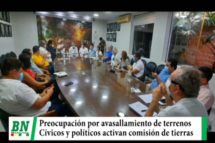 Cívicos y políticos activan comisión de tierras ante los avasallamientos de predios