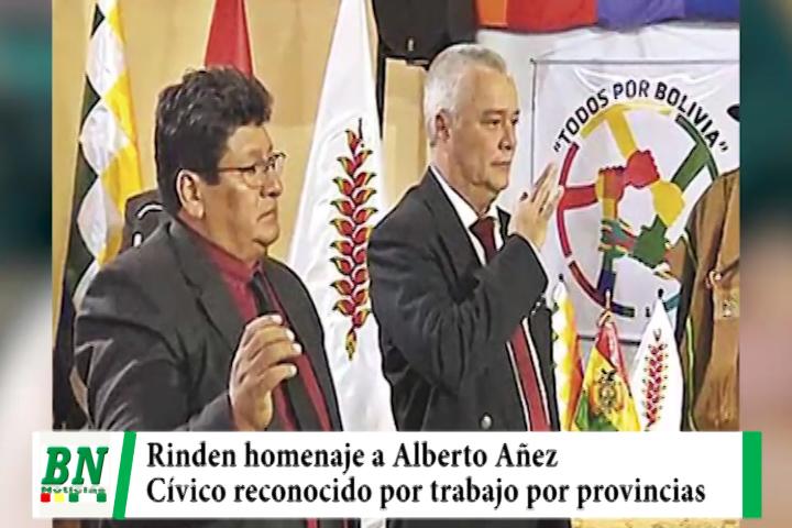 Concejo Municipal rinde homenaje a Alberto Añez por trabajo en bien de provincias y lucha por democracia