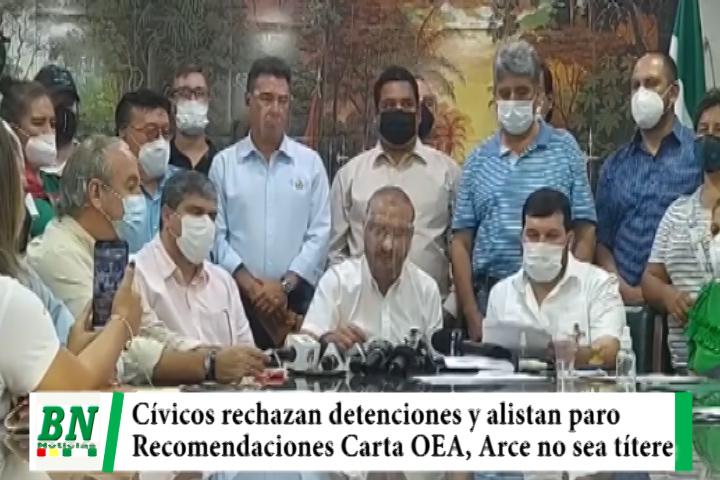 Cívicos rechazan detenciones y persecución y parlamentarios aplicarán recomendaciones de OEA