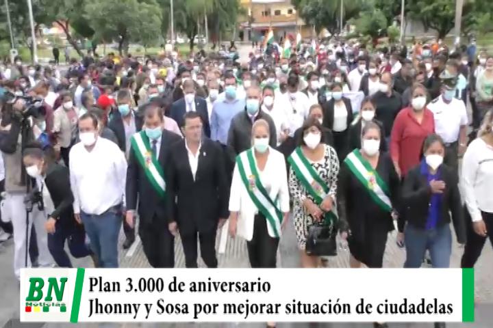 El Plan 3,000 de aniversario y Jhonny y Sosa de acuerdo en mejorar situación de ciudadelas