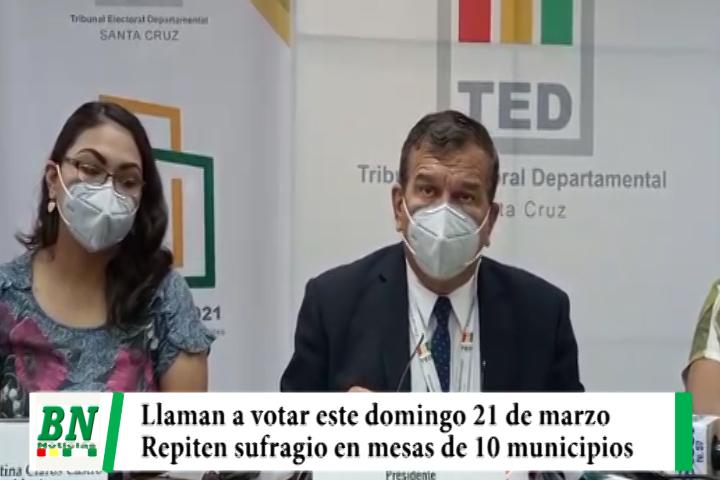 TED llama a votar en mesas anuladas o donde se quemaron ánforas de 10 municipios previo acuerdo