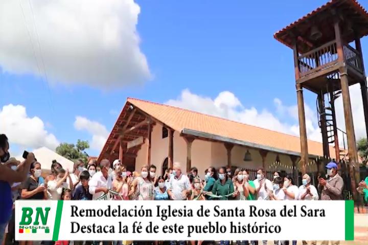 Entrega remodelación de la Iglesia de Santa Rosa del Sara y destaca la fe que hay en este pueblo histórico