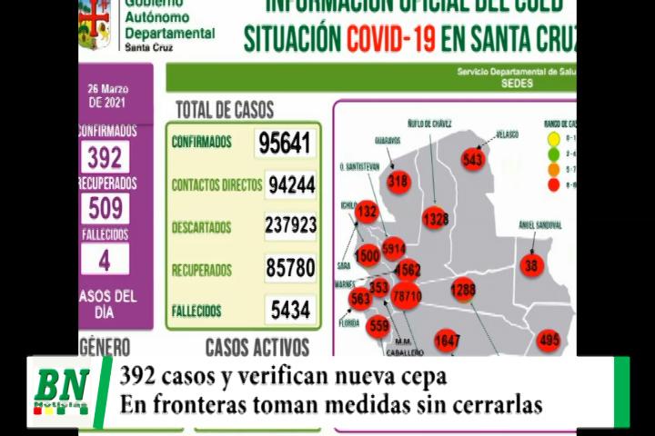 Alerta coronavirus, 392 contagiados y verifican nueva cepa, en frontera trabajan en control y evitan cierre