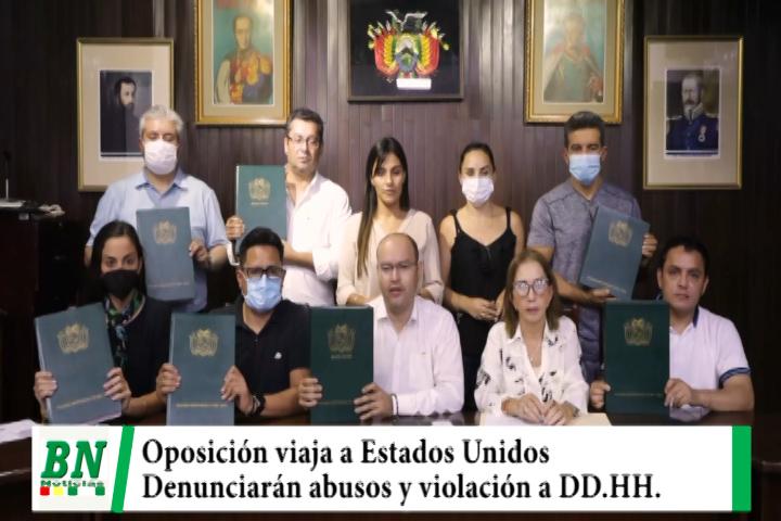Oposición viaja a USA para denunciar ante organismos internacionales abusos y violaciones a Derechos Humanos