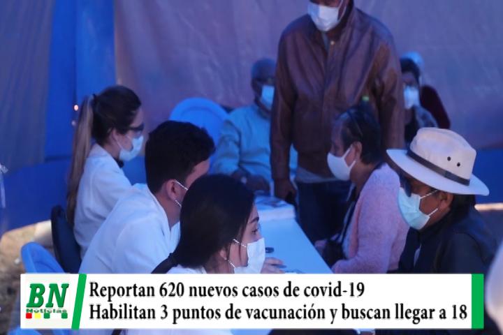 Alerta coronavirus, Reportan 620 casos mientras habilitan 3 nuevos puestos de vacunación
