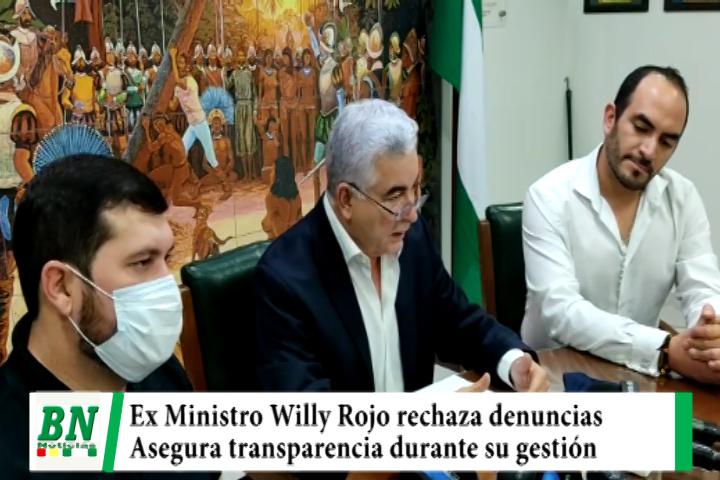 Ex ministro Willy Rojo rechaza denuncias en su contra