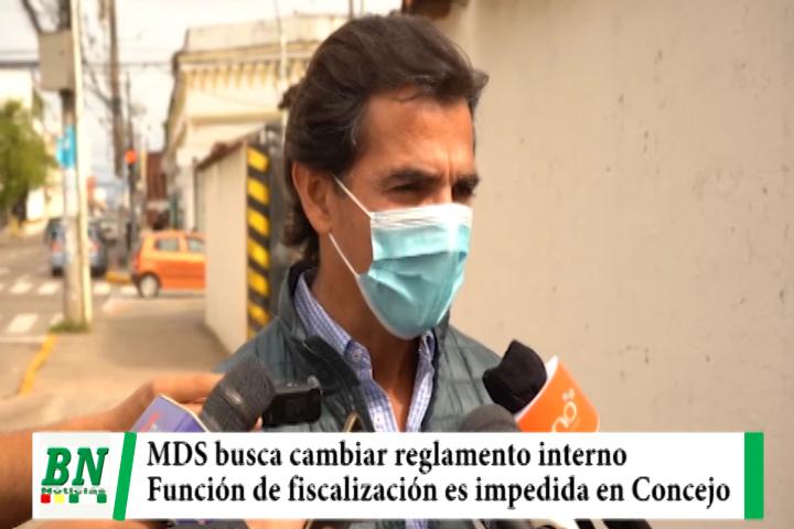 MDS busca cambiar reglamento interno y que fiscalización en el Concejo sea posible