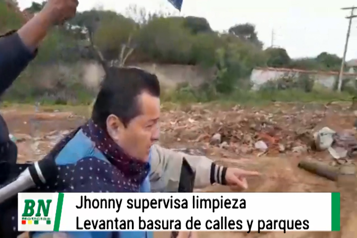 Jhonny Fernandez inicia limpieza de micro basurales en calles y plazas