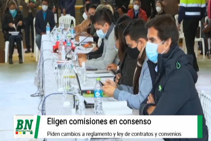 Concejo elige comisiones por consenso pero evita cambios a reglamento y fiscalización