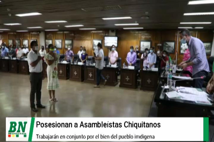 Asambleistas indígenas Chiquitanos son posesionados y esperan trabajo en conjunto