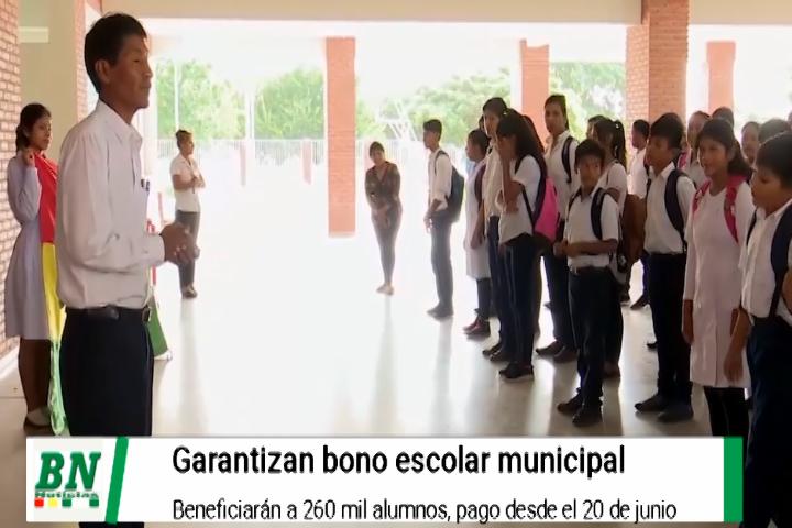 Bono escolar se garantiza y se pagará en junio a 260 mil alumnos