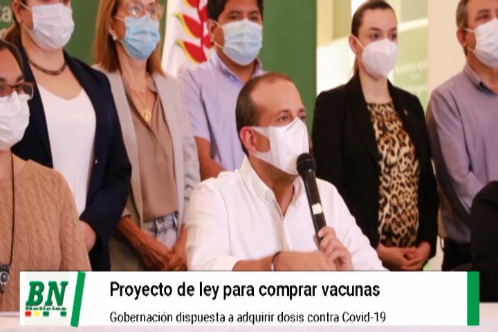 Camacho presenta proyecto de Ley corta para que regiones puedan comprar vacunas covd-19