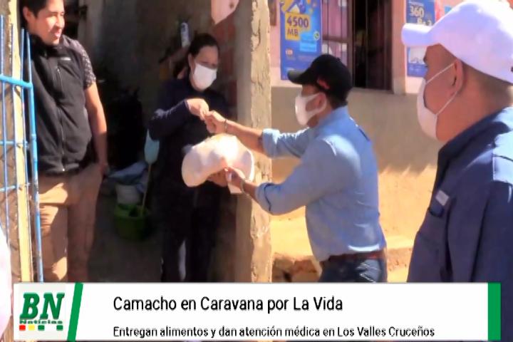 Caravana por la vida llega a Los Valles y entregan alimentos y dan atención médica, van por industrialización de las provincias