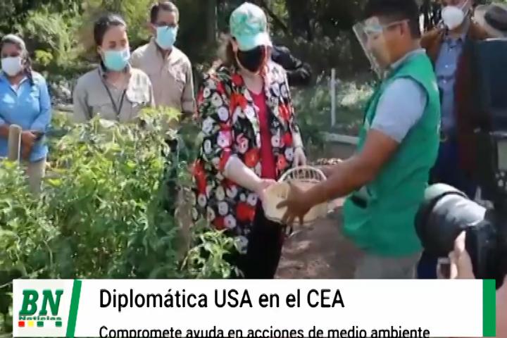 Diplomática de Estados Unidos visitó el CEA y comprometió ayuda para trabajos en pro del medio ambiente