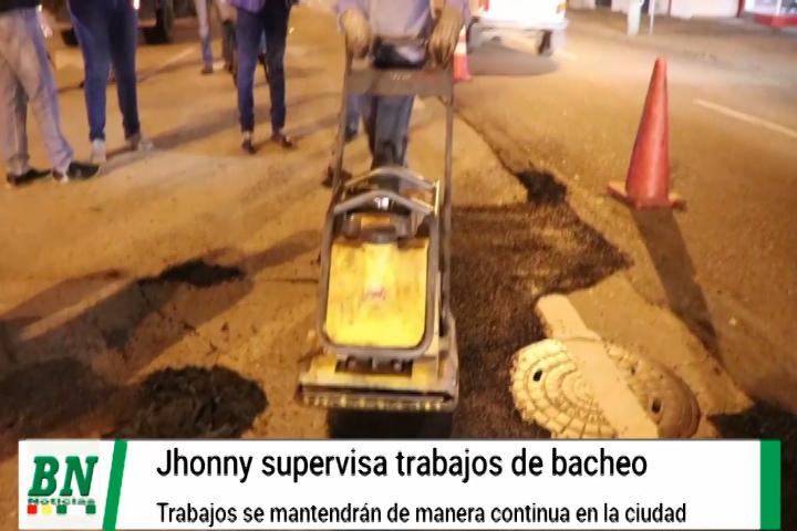 Supervisan trabajos de bacheo de la ciudad y aseguran trabajo en toda la ciudad