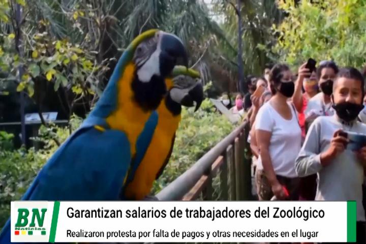 Municipio garantiza salarios a trabajadores del Zoológico que protestaron