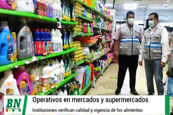 Realizaron control  de productos en mercados y supermercados buscando contrabando