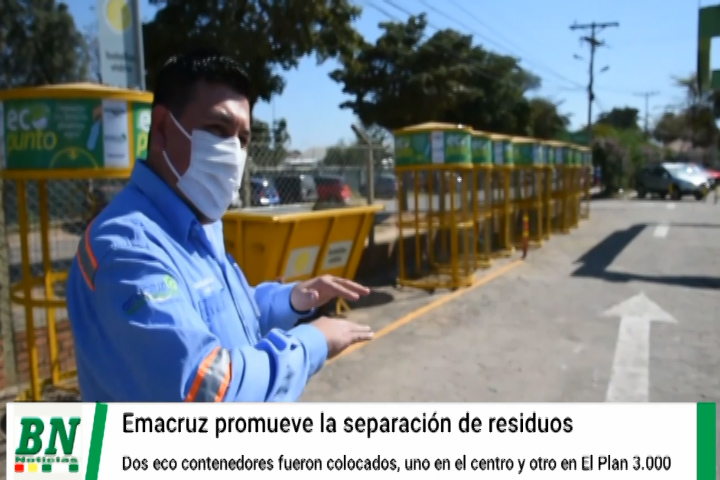 Emacruz implementa sistema de separación de residuos y coloca dos ecoestaciones