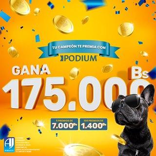PODIUM, premia a los dueños de perritos con 175.000 bs en más de 100 premios