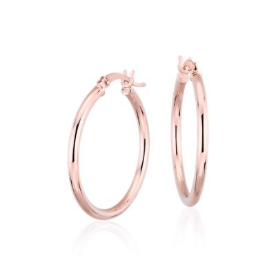 Medium Hoop Earrings In 14k Rose Gold 1 Blue Nile