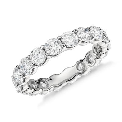 classic diamond eternity ring in platinum 2 3 4 ct tw