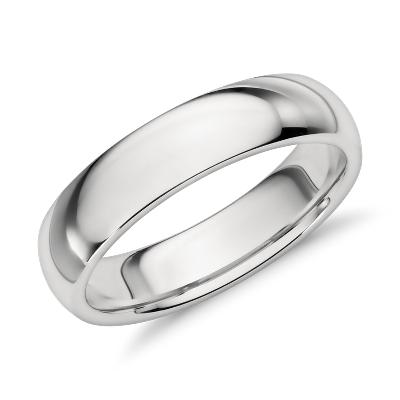 Comfort Fit Wedding Ring in Platinum 5mm  Blue Nile