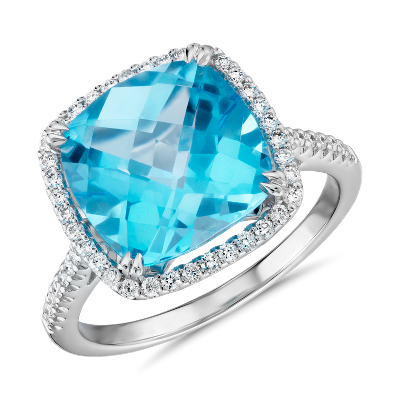 Blue Topaz Wedding Rings