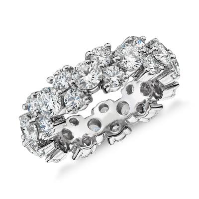 Garland Diamond Eternity Ring In Platinum 5 Ct Tw