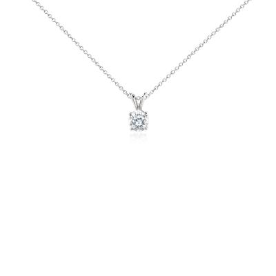 Diamond Solitaire Pendant in Platinum 1 ct tw  Blue Nile