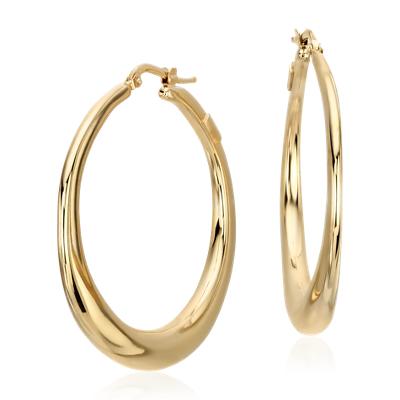 bold hoop earrings in