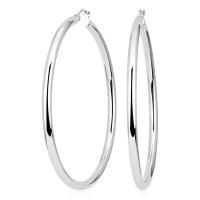 Statement Polished Hoop Earrings in Sterling Silver (2 3/8 ...