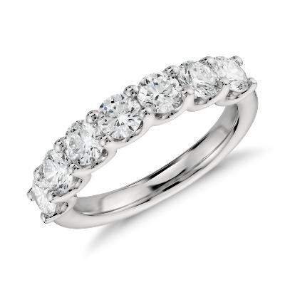 Luna Seven Stone Diamond Ring In Platinum 1 12 Ct Tw