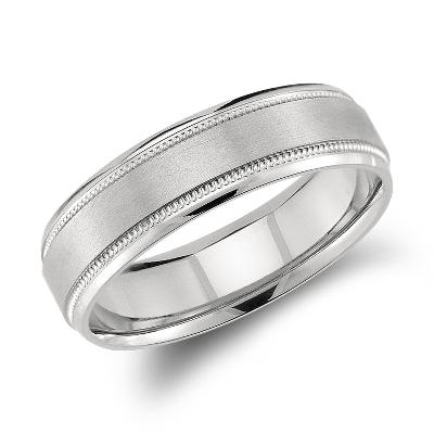 Milgrain Emery Wedding Ring In Palladium (6mm)  Blue Nile