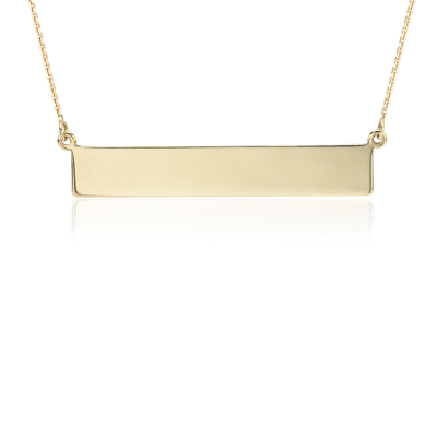 engravable bar necklace in
