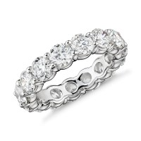 Blue Nile Signature Comfort Fit Diamond Eternity Ring in ...