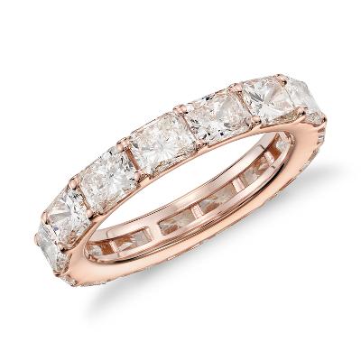 Radiant Cut Diamond Eternity Ring In 18k Rose Gold 400