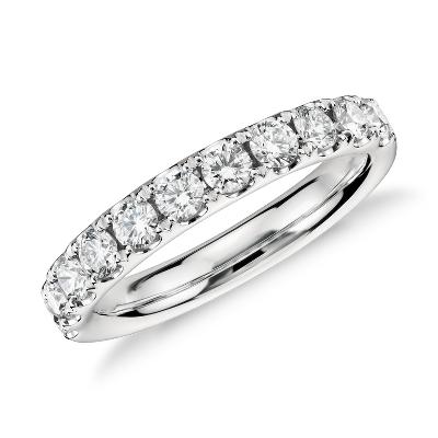 Riviera Pav Diamond Ring in Platinum 34 ct tw  Blue Nile