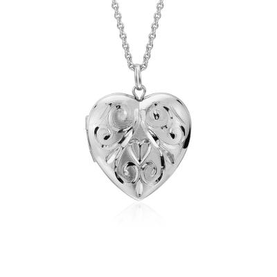 hand engraved heart locket