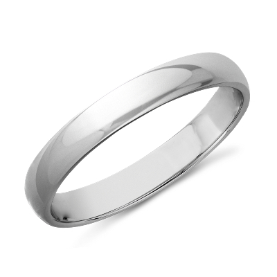 Classic Wedding Ring In 14k White Gold 3mm Blue Nile