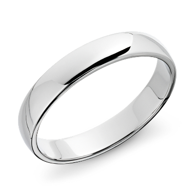 Classic Wedding Ring In 14k White Gold (5mm)  Blue Nile