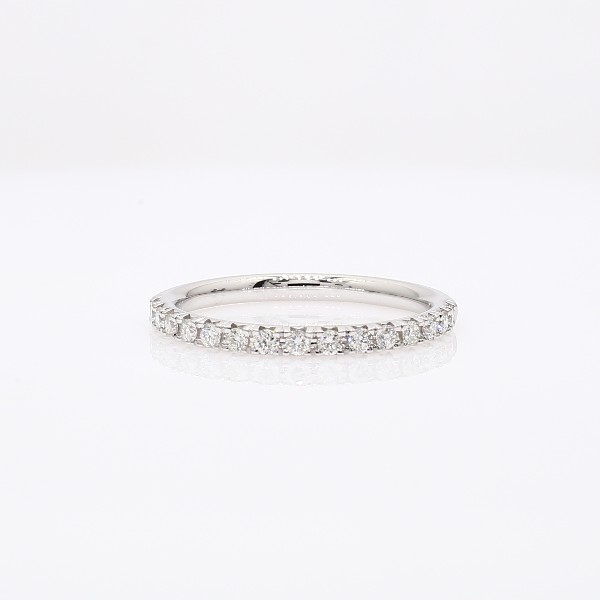 French Pavé Diamond Ring in 18k White Gold (1/4 ct. tw